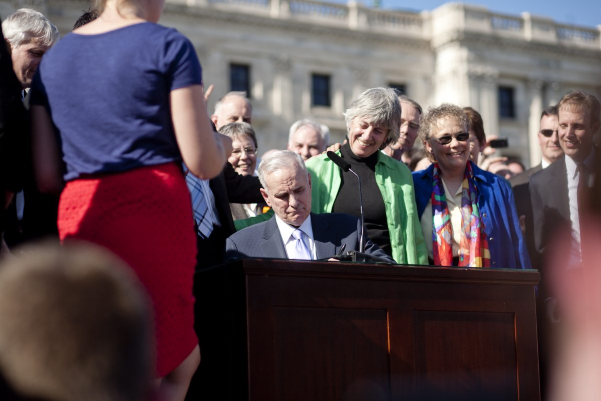 Governor Dayton signs the Marriage Equality Bill