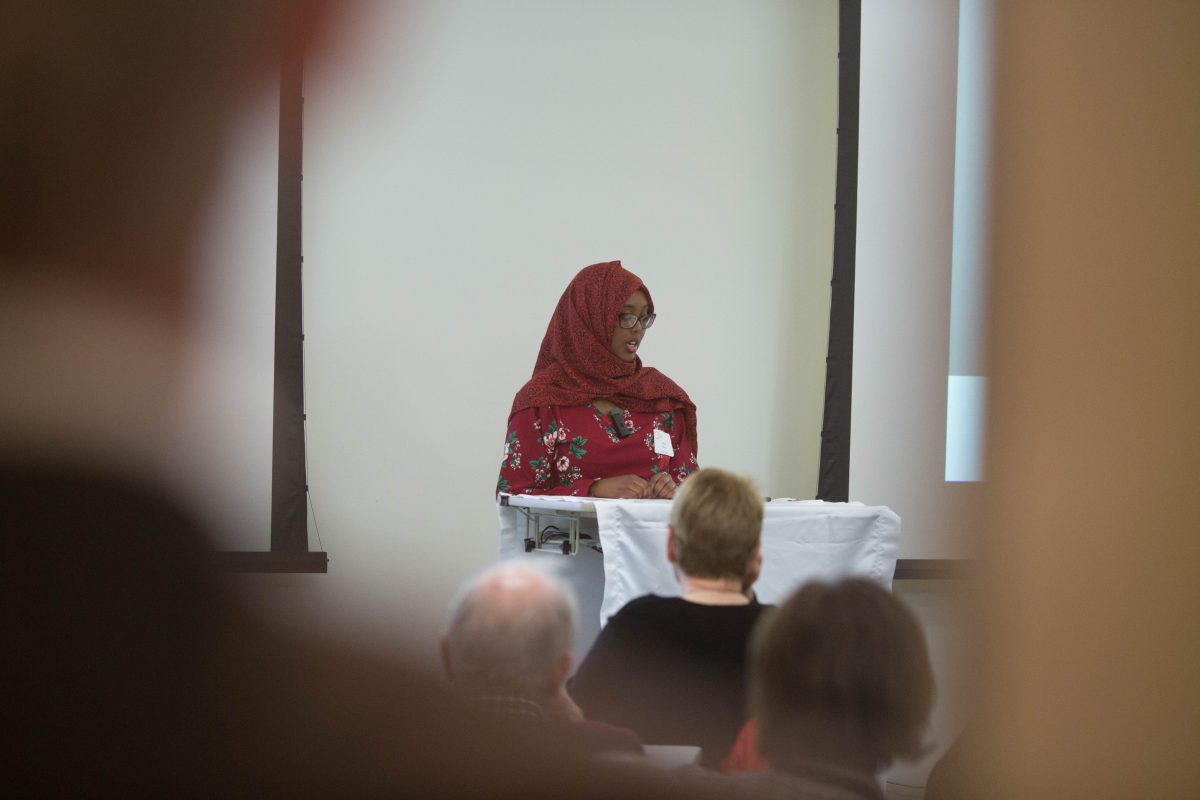 Amal talks about her work in St. Cloud